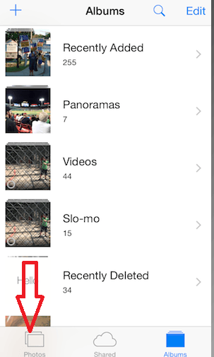 Find Missing Photos on iPhone after Upgrading to iOS 8