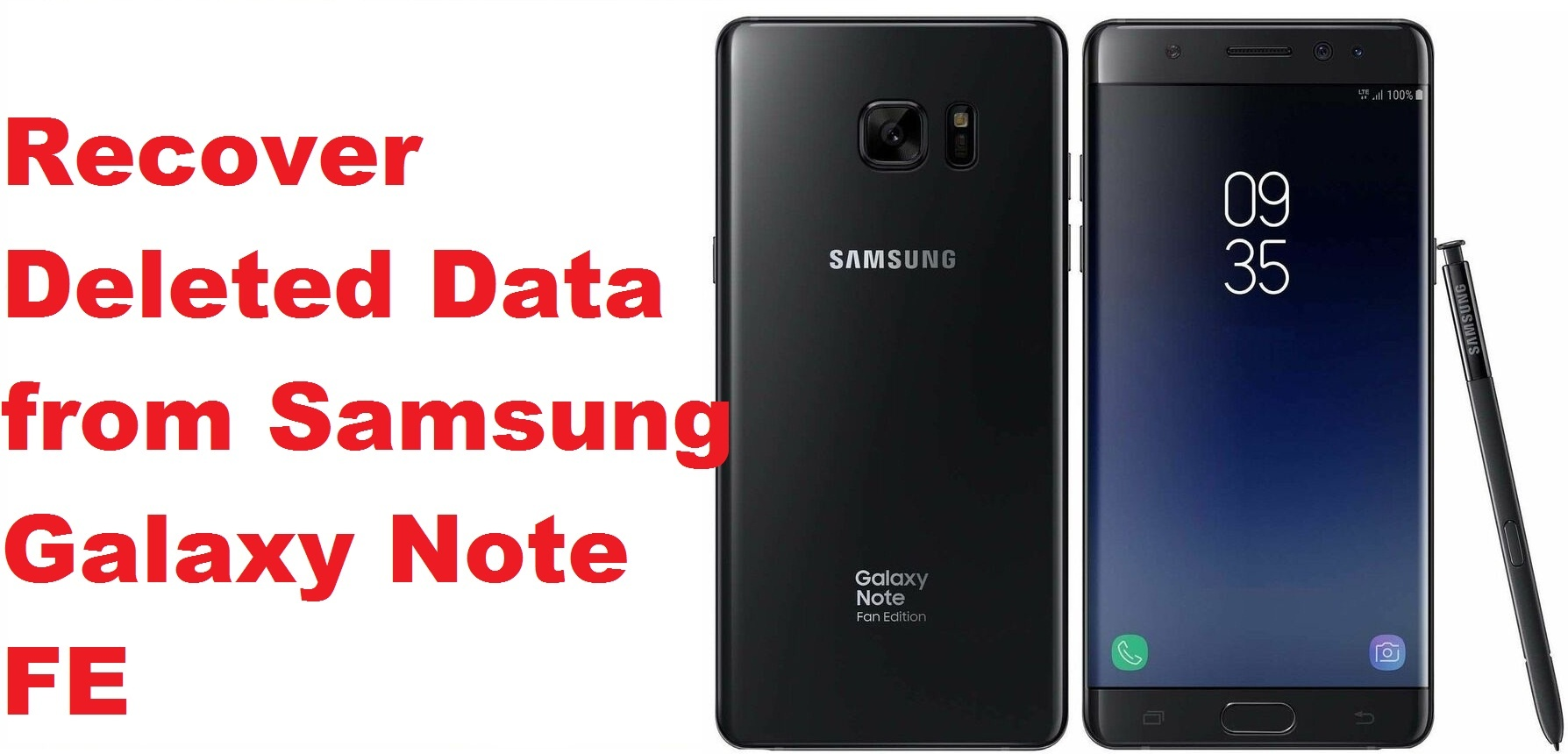 recover deleted data from Samsung Galaxy Note FE
