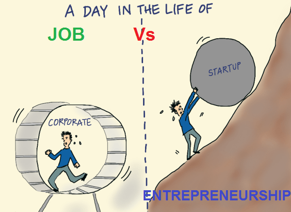 JOB VS ENTREPRENEURSHIP