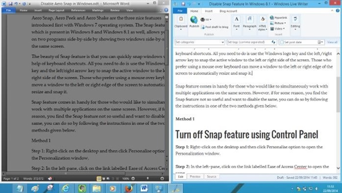 How to Stop Snap View on Windows 8
