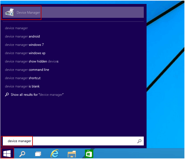 Effective Ways to open Device manager in Windows 8 and Windows 8.1