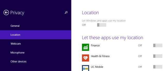 Best Tips To Configure Location Settings on Windows 8.1