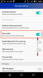 Stay Awake Phone Screen When Charging on Android