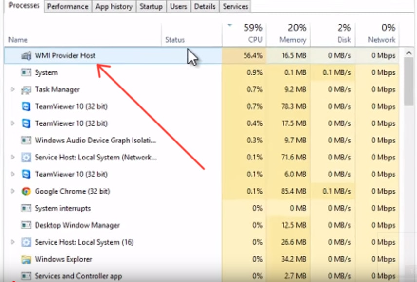 How to Fix WmiPrvSE.exe File High Usage in Windows 10