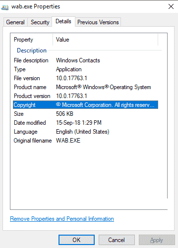 How to Fix wab.exe in Windows 10 in few steps from computer