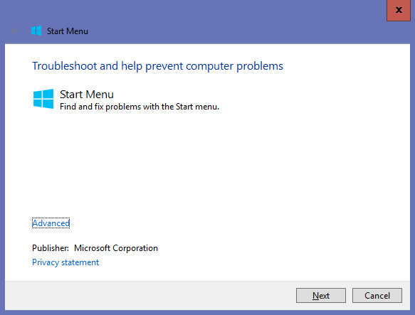 Fix & Repair The Start Menu Button Error in Windows 8