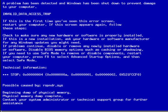 Learn to Fix INVALID_DATA_ACCESS_TRAP BSOD Error Quickly