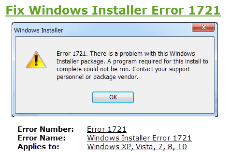 Effective Tips To Remove Windows 8 & 8.1 Error 1721