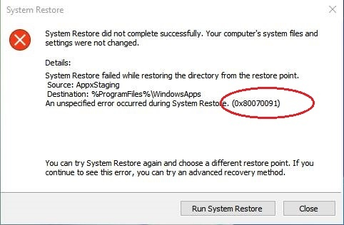 Learn the Way to Fix System Restore Error 0x80070091 Permanently
